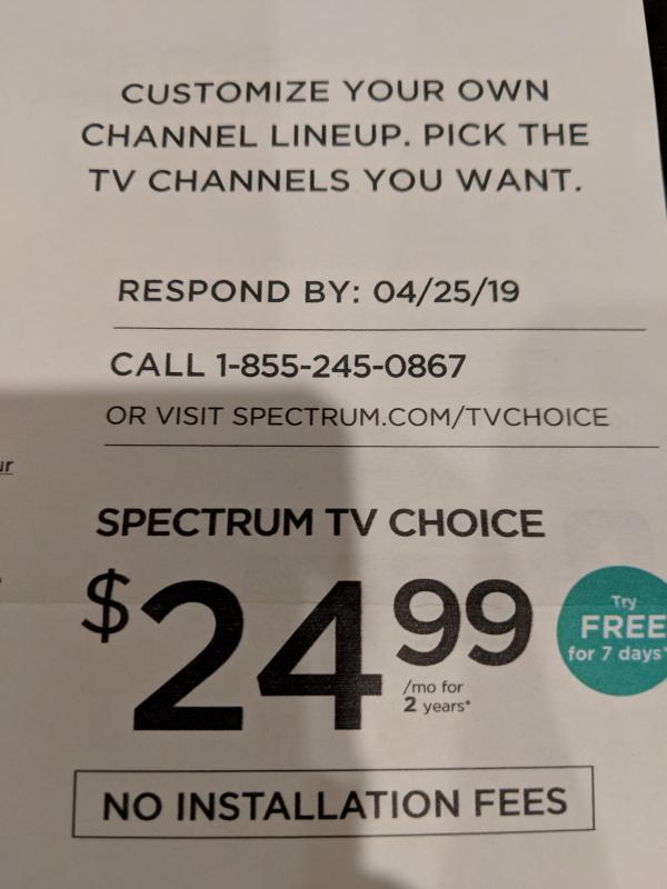 Spectrum 25 a la carte
